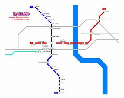 Warsaw Map Metro Rosen Ryoko 01en Train