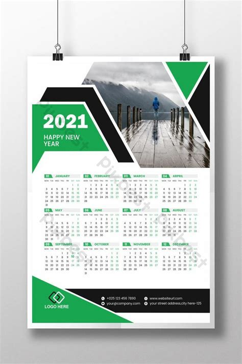calendar  green design template eps
