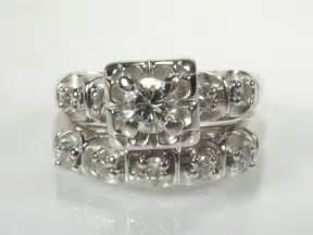 1950s wedding rings vintage wedding rings set circa 1950 39 s
