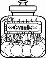 Coloring Pages Candy Printable Sweet Cane Apple Heart sketch template
