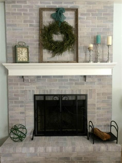 whitewashed brick fireplace search viewer hgtv