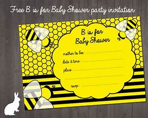 FREE Bumble Bee Baby Shower Invitation Free Party