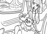 Coloring Thumbelina Barbie Going Vanessa Vacation Picnic Tocolor Dog Sheets sketch template