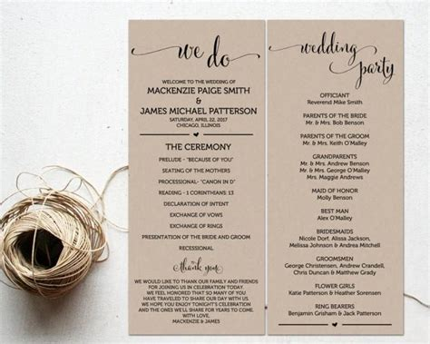 Free Sle Wedding Programs Templates by Ceremony Programs Wedding Program Template Ceremony