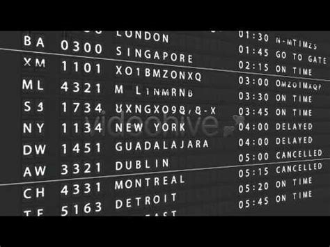 effects template airport departure board youtube
