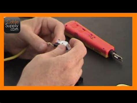 How Punch Down Telephone Jack Youtube