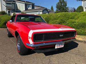 1967 Chevrolet Camaro Red Real Rs  Ss 350 V8 4  Sp Western