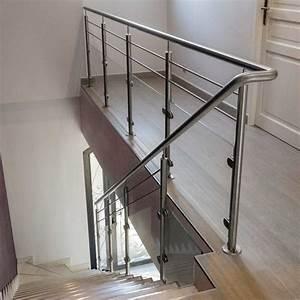 Rambarde Escalier Intrieur Verre Et 2 Barres InoxDesign