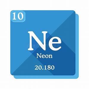 Diagram Representation Of The Element Neon Stock Vector