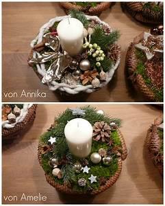 Floristik Gestecke Selber Machen : weihnachtsgesteck basteln adventsgesteck basteln ~ Watch28wear.com Haus und Dekorationen