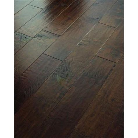 scraped maple hardwood flooring shaw 3 8 in x 5 in hand scraped maple edge leather engineered hardwood flooring 19 72 sq ft