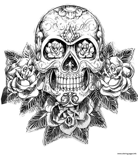 Skull Coloring Pages For Adults Coloring Pages