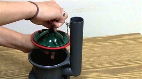 install  korky   toilet flush valve seal
