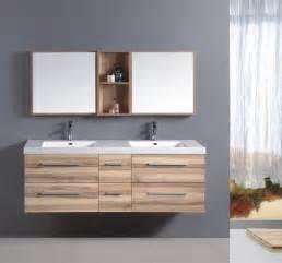 badezimmer hochschrank doppelwaschtisch holzoptik doppel waschbecken massivholzmöbel bei moebelshop68 de