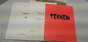 Tekken Namco 1994 Arcade Video Game Manual  1379