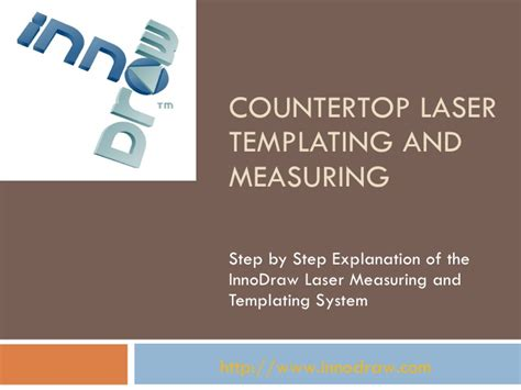 countertop laser templating and measuring