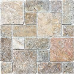 shop anatolia tile scabos mixed pattern mosaic travertine wall tile common 12 in x 12 in