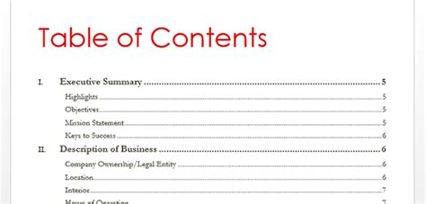 what is a table of contents how to create table of contents in word 2013 toc office