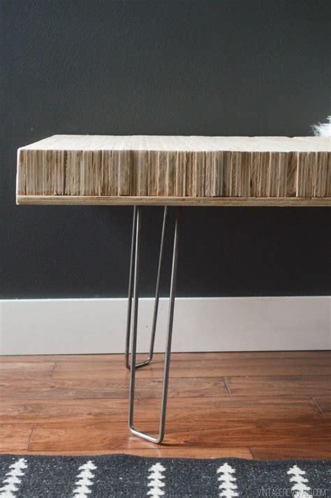 diy stacked plywood bench vintage revivals