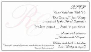 How does my rsvp card wording sound weddings etiquette for Wedding invitation wording limited seating