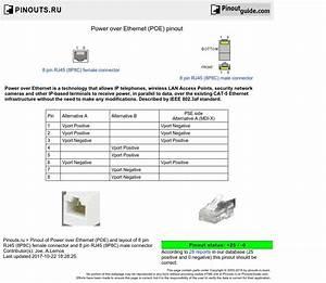 Power Over Ethernet  Poe  Pinout Diagram   Pinoutguide