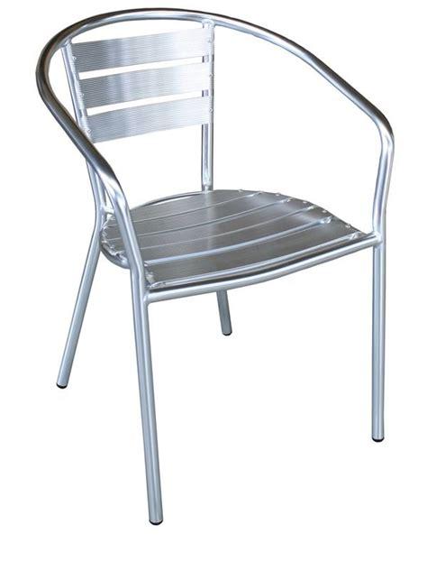 chaise aluminium exterieur z alu chaise d 39 extérieur empilable en aluminium sediarreda