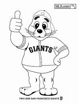 Coloring Giants Pages Baseball Francisco San Ny Mlb Giant Buster Posey Template Sf Mascots Seal Sports Lou Basketball Team Players sketch template