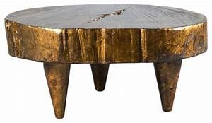 tula rustic gold live edge coffee table rustic coffee With rustic gold coffee table