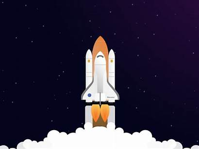 Rocket Launch Nasa Discovery Space Dribbble Javascript