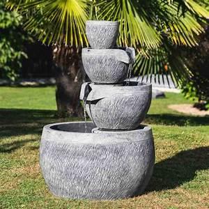 Fontaine Exterieur Zen : fontaine de jardin fontaine d bordement bassin rond ~ Nature-et-papiers.com Idées de Décoration