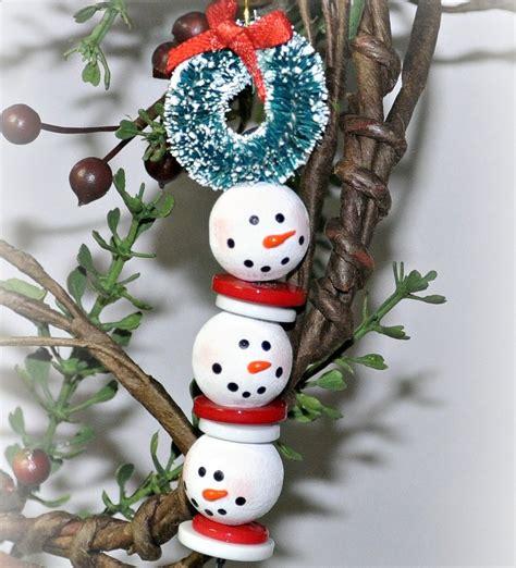 Beaded Snowman Strand Allfreechristmascraftscom