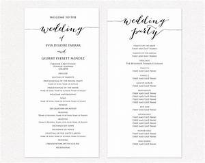 Wedding Program Two Templates Ceremony Program Template
