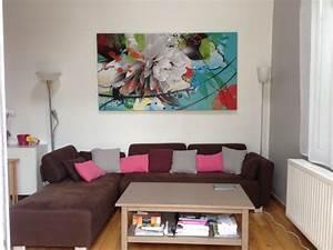 Tableau Contemporain Grand Format : tableau grand format fleur d t ~ Teatrodelosmanantiales.com Idées de Décoration