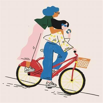 Behance Gifs Zappos Ones Bike Illustration Bicycle