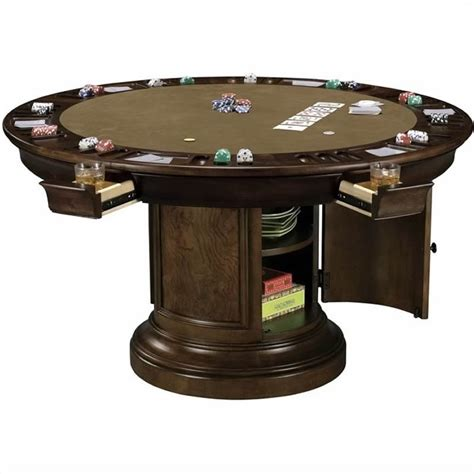 round poker table with dining howard miller ithaca round poker table 699012