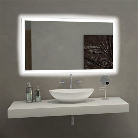 Mirror Lights Bathroom by Mirror Rectangle Bathroom Mirror With Led Backlights