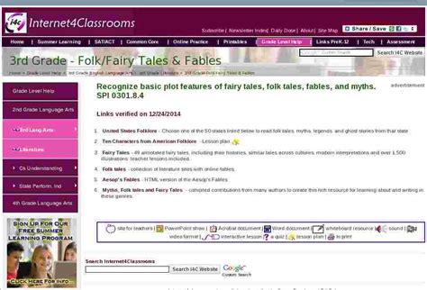 folkfairy tales fables  grade english language