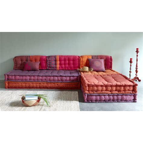 futon du monde banquette d angle modulable 6 places en coton d 233 co