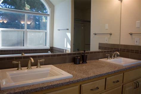 overmount kitchen sink on granite drop in tub alex freddi construction llc