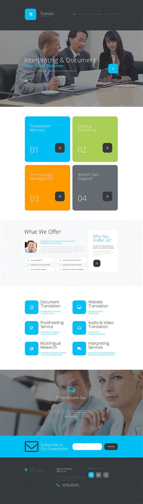translate bureau translation bureau responsive website template 57925