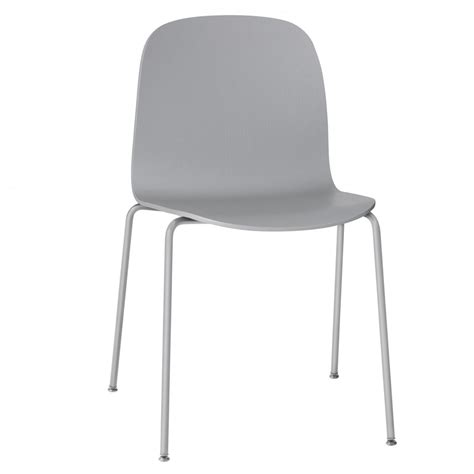 chaise muuto visu chair base in grey muuto