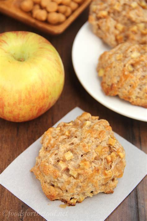 caramel apple cookies   blog recipes