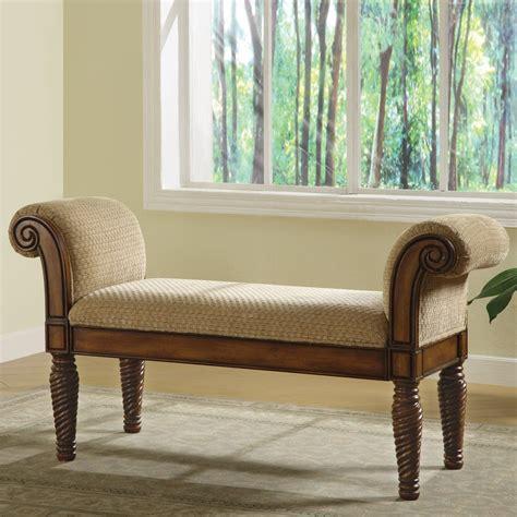 coaster fine furniture  stately upholstered bench