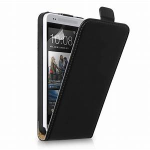 Caseflex HTC One Mini Real Leather Flip Case - Black