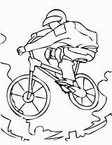 Coloring Printable Mountain Bmx Bike Colouring Adults Coloriage Bicyclette Biking Children Sport Imprimer Kindergarten Velo Sheets Bicycles Dessin Sheet Getcolorings sketch template