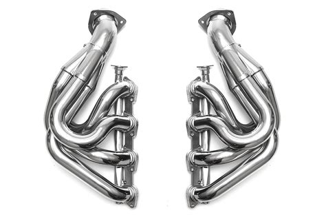 We replace the original primary pipes with thicker (1.5mm instead of 1.2) material and we use a higher grade stainless alloy (type 304 instead of 409). Best Exhaust - Fabspeed Ferrari F430 Sport Headers FS.FER.430.SHDR