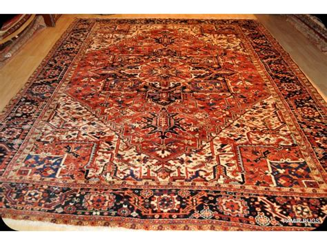 12x9 area rug antique heriz circa 1900 elegantorientalrugs