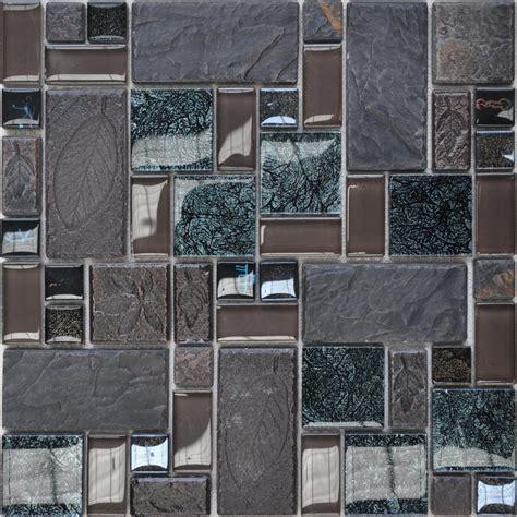 wholesale porcelain glass tile wall backsplash grey