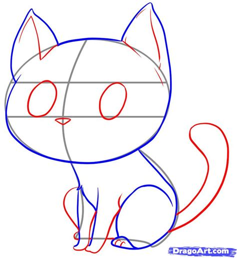 draw  easy cat step  step drawing sheets added