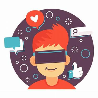 Social Reality Illustration Augmented Icon Transparent Svg